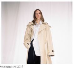 For the S/S 2017 he maintained the tailoring in huge proportions, especially coats, jackets and . Duster Coat, Women Wear, How To Wear, Jackets, Collection, Fashion, Down Jackets, Moda, Fashion Styles
