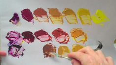 Complementary colours - yellow and purple acrylic paint (+playlist)  will kemp