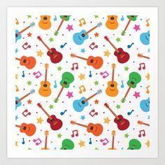 Guitars and Stars Art Print by Matt Andrews - $15.00