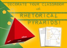 The Pyramid: Rhetorical Analysis In 3D. Yep. It's as cool as it sounds. #engchat #2ndaryELA #nctechat #teachwriting
