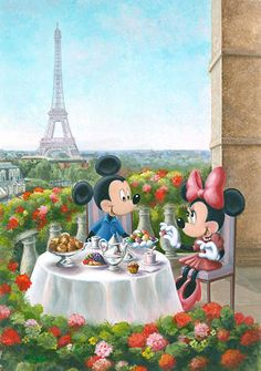 Mickey Mouse - Les Macarons - Annick Biaudet - World-Wide-Art.com