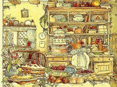 Illustration from Brambly Hedge Jill Barklem Beatrix Potter, Brambly Hedge, Hamsters, Children's Book Illustration, Whimsical Art, Conte, Hedges, Vintage Cards, Book Art