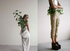 Egle Cekanaviciute's beautiful and intriguing collection is built up and styled following the obvious conclusion that any human creation is helpless against the power of nature.