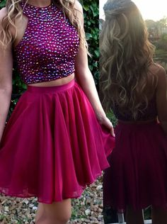short party dresses, simple fuchsia homecoming dresses, cheap sparkling homecoming dresses