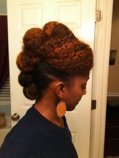 NATURAL HAIR UPDO swipe bang, hair rock, style, black hair, texture, colors, natur hair, hair updo, blog