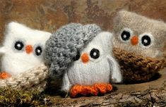 Super-Cute Owls Made From Recycled Sweaters---Not sure why I'm digging owls. by jocelyn