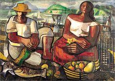Os pescadores-1951- DI CAVALCANTI (Brasil, 1897-1976)