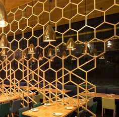 honeycomb geometric open divider