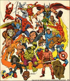 marvel heroes | Art of John Buscema: Classic Marvel Heroes on this 1978 cover!