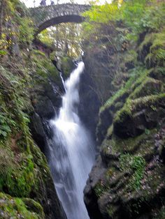 Aira Force, on its way to Ullswater - http://bookcheaptravels.com/aira-force-on-its-way-to-ullswater/ - Aira Force, on its way to Ullswater  Image by Invvigren The main force that falls 70 feet from below the stone footbridge.  - Aira, Force, Ullswater