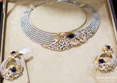 Diamond necklace at Abaran jewellers Bangalore