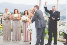 First Kiss | Chelan wedding