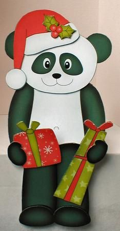Card Gallery - 3D On the Shelf Card Kit - Christmas Panda Chi Chi