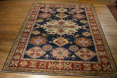 2905 size 7.3 x 9 Tribal Kazak Rug / Oriental by OakParkAntiques, $2595.00