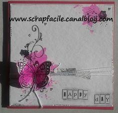 papillon rose Scrapbooking, Rose, Day, Books, Cards, Pink, Libros, Book, Scrapbook