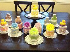 Cute as a button diaper cakes