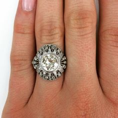 "Love this gorgeous ornate open work on our ""Marina"" ring!"