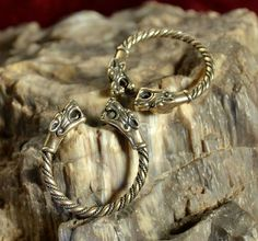 Bronze Viking Wolf Head Ring Jewel Celtic Pagan by WulflundJewelry, Kč360.00