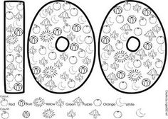 100 days of school is coming. FREE download...color and count 100's day activity