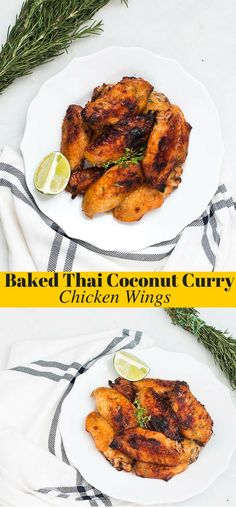 This Baked Thai Coconut Curry Chicken Wings recipe will be perfect for ...