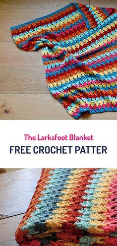 The Larksfoot Blanket Free Crochet Pattern #crochet #yarn #crafts #style #homedecor #handmade #homemade