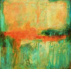 """Southern Breeze - Original Abstract Acrylic Canvas Modern Art Painting 24""""x24""""…"""