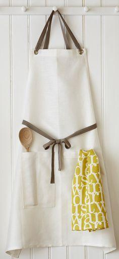 Lush Kitchen Linen Apron