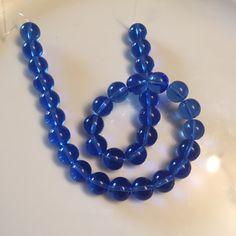 10mm Round Crystal bead Sapphire by GshandmadeGoods on Etsy