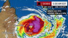 "Powerful Tropical Cyclone ""Debbie"" Set To Strike Queensland, Australia"