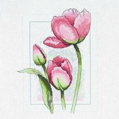 Delicate Tulips Cross Stitch Kit