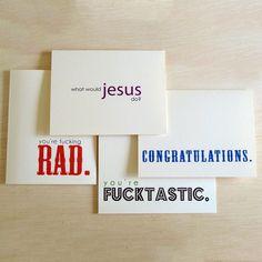 The Random Cards Set Of 4 haha