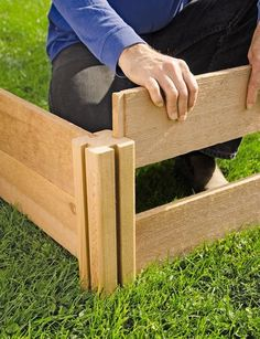 Gardener's Supply: 4' x 4' Rustic Cedar Raised Bed - NEW - details say just slide together, and can be stacked on top of each other!?!?