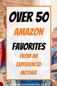 This list is the list you need as a mother of young children! Check it out, and shop around to find the best Amazon Products out there that a mom could ask for! #baby #infant #products #children #toddler #toys