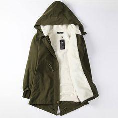 Wild Little Cat Winter BF Long Down Cotton Dress Women Loose Oversized Long Coat Jacket
