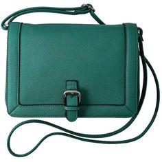 Merona® Saffiano Crossbody - Green ($20) ❤ liked on Polyvore