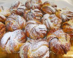 Rozi erdélyi,székely konyhája: Dán briós,diós-mogyorókrémmel töltve Ring Cake, Jamie Oliver, Pretzel Bites, Scones, Donuts, French Toast, Muffin, Food And Drink, Favorite Recipes
