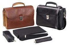 """Winn """"The Luxury Standard"""" Leather Laptop Briefcase  This is the luxury leather briefcase that you have always wanted."""