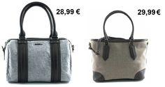 Aquí tienes dos propuestas de bolsos grises con detalles bicolor. El primero, tipo bowling y en fieltro. El segundo, en algodón y polipiel con detalles de diamantes incrustados. ¿Cuál os gusta más?  http://bissubags.com/shop/home/234-bolso-de-hombro.html http://bissubags.com/shop/home/264-bolso-de-hombro.html  #bolsos #moda #fashion #bicolor