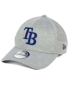 New Era Tampa Bay Rays Heathered Perf Patch 39THIRTY Cap - Gray L/XL