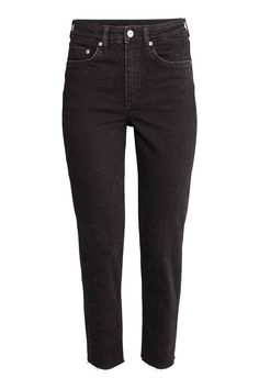 Vintage High Ankle Jeans - Denim noir - FEMME | H&M FR