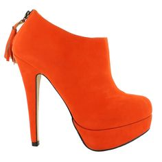 like this shade of orange  those are my kind of shoes  Pinterest