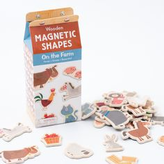 On the Farm Wooden Magnetic Shapes by Mudpuppy