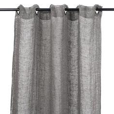 Harmony - Rideaux en voile de lin lavé Porto Vecchio - Gris Granit - 120x280 cm - Home Beddings and Curtains