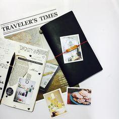#travelersnotebook #midori #midoritravelersnotebook #travelersnote #planner #weekly #travelerscompany #journal #maskingtape #washitape #classiky #diary #트래블러스노트 #다이어리 #vintagestamp #travelerstimes  오랜만에 꺼낸 블랙.