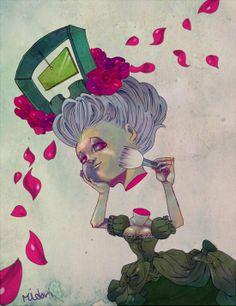 Marie Antoinette Portrait 2. #illustration#