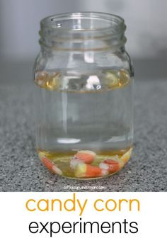 Candy Corn Science Experiments for Kids! Perfect for Halloween!
