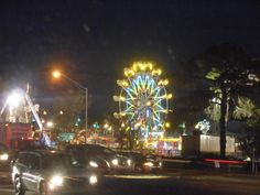Nativity Fair at night, Brandon , Florida.  This is the second largest fair in the tampa area next to the State Fair which is close by also.