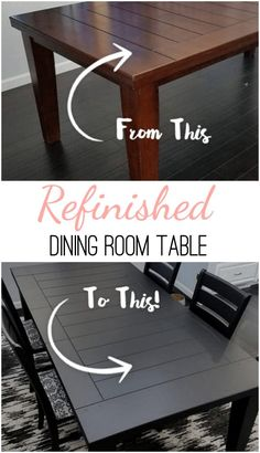 Looking for an easy way to refinish a piece of furniture you dislike?  Follow along and see how easy it was to this Refinished Dining Room Table.  Best of all the whole project took only 1 day and no sanding was required. #sponsored #behrpaints