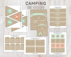 Camping Birthday Party Package  Printable by deanworks on Etsy