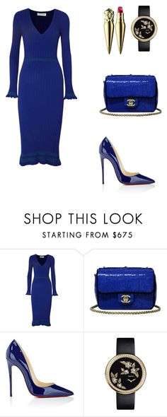 """Night before"" by roxannekamiren ❤ liked on Polyvore featuring Altuzarra, Chanel and Christian Louboutin"